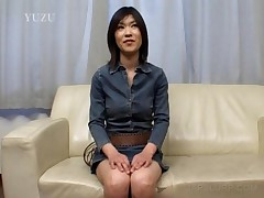 Lusty Asian Babe Rubbing Horny Twat Through Undies