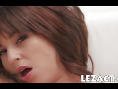 Shay Laren - Enormous Titted Brunette Pornstar Shay Laren Enjoys Playing With Her Pink Snatch