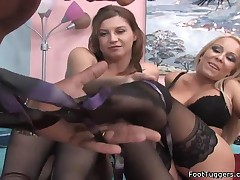 Sara And Jessica - Threesome Foot Tease