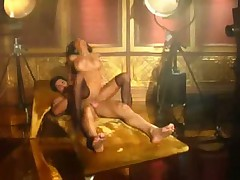 Sexy brunette Lela Star gets ass fucked and swallows cum