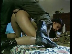 Hot French pornstar Julia Chanel fucks an army guy