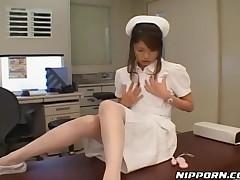 Horny Nurse Jilling Off