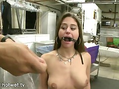 Cathy Heaven - This Hot Brunette With Beautiful Big Tits Enjoys The Thrill Of BDSM And Loves To Suck