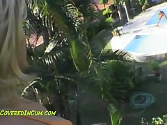 Gisselle - Teen Latina Gisselle Is Horny As Hell And Goes Trolling For Boyss At The Pool To Suck