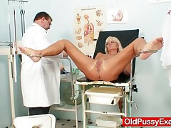 Skinny Housewife Visits Women Doctor To Get Her Old Pussy Checked
