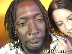 Katie Thomas And Kaycee Dean Vs Byron - A Hot Interracial Threeway
