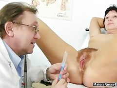 Hairy Mature Mom Spreads Wide And Gets Her Pussy Inspected By MaturePussyExams