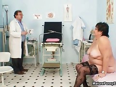 Fat Housewife Gets Horny Getting Her Body Examined By The Pussy Doctor By MaturePussyExams