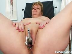 Vilma - Vilma Mature Pussy Speculum Gyno Examination