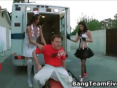 Three Brunette Pornstar Nurses From Fuckteamfive Fucking Random Cocks Until They Cum 3 By BangTeamFi