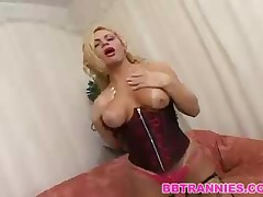 Sexy Blonde Shemale Fucking A Man