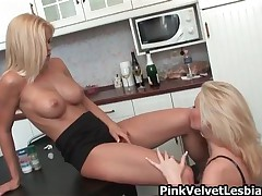 Horny Blonde Lesbian Babe Getting Her Clothes Of And Her Tits Sucked By Another Blonde Hottie By Pin