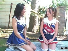 Two Sexy Teen Chearleaders Turning Each Other On For Some Hot Lesbian Sex By RealFilly