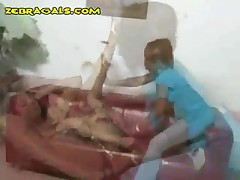 White Babe Is Treated Rough By Black Domme