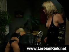 Shameless Blonde Lesbians Gets Sexy Ass Spanked