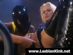 Masked Lesbians Masturbating Wet Pussies