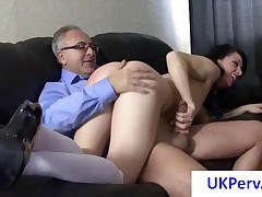 Skinny Young Slut Gets Fucked By An Old UK Pervert