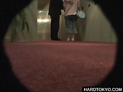 Japanese Naked Couple Get Spied On Keyhole