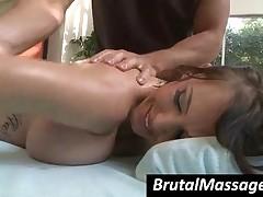 Jenna Presley - Ponytailed Busty Babe Jenna Presley Gets Hot Ass Massaged