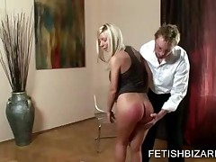 Hot Blonde Girl Gets Her Sexy Ass Slapped