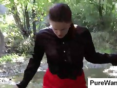 Elegant Babes Gets Dirty With Mud At The Lake
