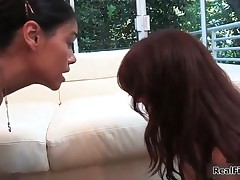 Dana Vespoli - Hot Asian Dana Gets Her Pussy Licked By A Super Hot Redhead In Their First Lesbian Ex
