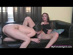 Female Lesbian Boss Loves Licking Her Workers Her Tight Wet Pussy By MyFemaleAgent