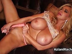 Rachel Aziani - Blonde Cougar With Big Tits Loves To Stick A Dildo In Her Tight Pussy By AzianiRache
