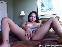 Lana Violet - Asian Slut Masturbates On Webcam