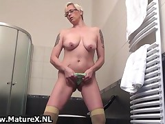 Slutty Mature Woman Pulls Her Thong In Her Old Pussy By MatureX
