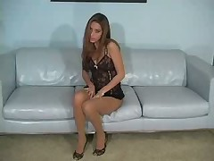 Jenna Haze pantyhose striptease
