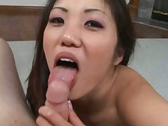 Gorgeous asian gets a facial