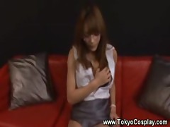 Asian teen in uniform gets fingered