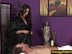 Ivy Winters - During An Oily Massage, Busty Kortney Sucks Her Clients Cock Until He Cums