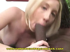 A Cute Blonde Teen Sucks A Black Giant Cock