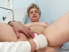 Dirty Old Housewife Gets Her Tits And Old Pussy Rubbed By The Pussy Doctor By MaturePussyExams
