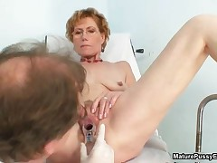 Skinny Old Housewife Getting Her Cunt Fucked Hard With A Dildo By The Pussy Doctor By MaturePussyExa