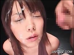 Hot Teen Asian Enjoys Facial Cumshot
