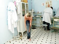 Gabriela - Gabriela Being Humiliated During Gyno Pussy Exam By Old Doctor