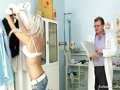 Sabina - Pretty Teen Sabina Coming To Her Gyno Doctor For Pussy Exam