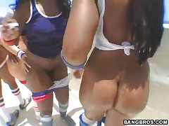 Lexi Cruz And Katja Kassin And Angel Eyes And Beauty - Ass Parade - Bubble Butt Ballin
