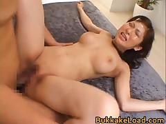 Harumi Asano - Harumi Asano Asian Chick In Hard Bukkake 6 By BukkakeLoad