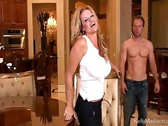 Kelly Madison - All Natural Big Titted Wife Kelly Madison Is In The Mood To Pleasure Her Young Stud