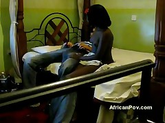 Tiny 18yo Black Swahili Teen Aisha Gets Big Dick On Spycam