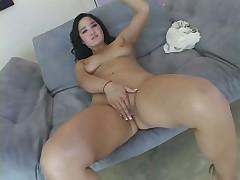 Tight Oriental Gash Split Open By White Penis