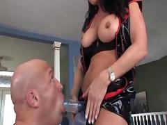 MILF Raquel DeVine strapon sex
