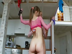 18yo french chicks playing with toys
