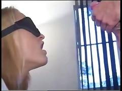 Luscious Blond Takes 4 Cocks & DP
