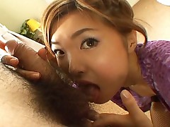 Sexy Asian strokes like wild!