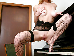 Petite cutie Zita loves to be caught when she is masturbating her nubiles pussy over and over again